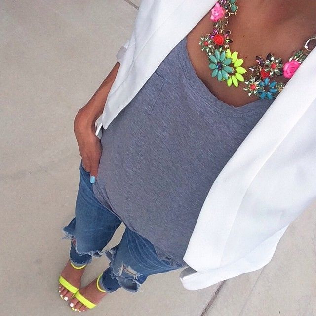 How To Wear Colorful Necklaces 2020