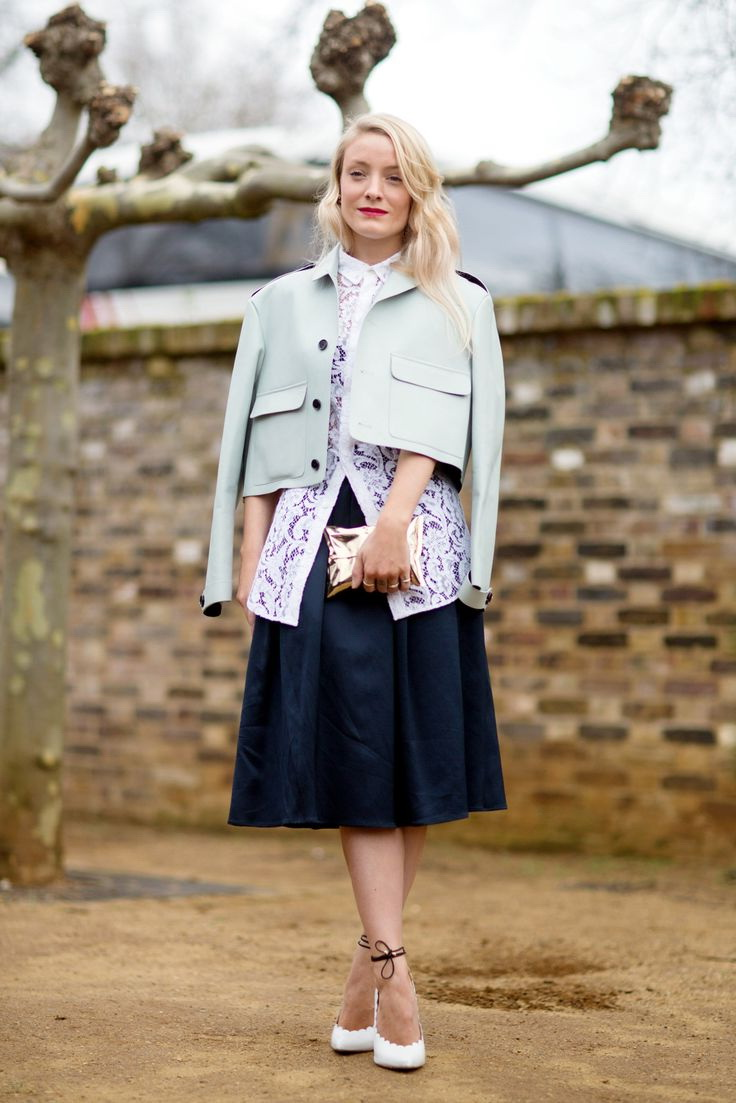 How to boxy wear cropped jacket fotos
