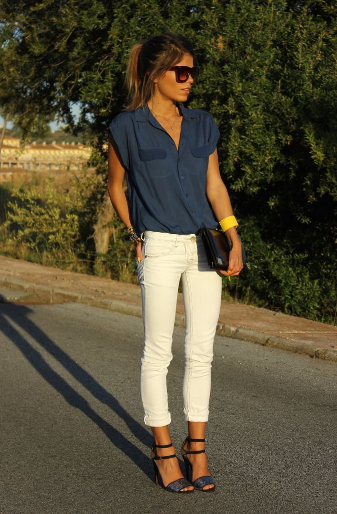 How To Wear White Jeans (Outfit Ideas) 2017 | FashionTasty.com