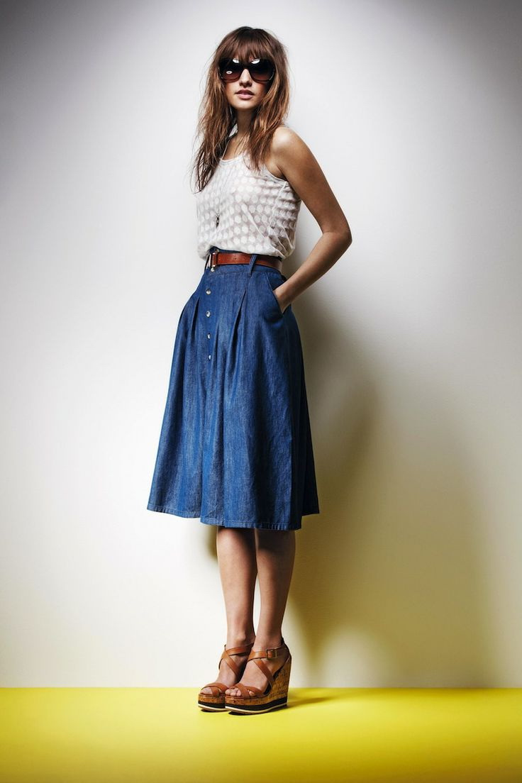 25 Ways To Wear Denim Skirts 2019 Fashiontasty Com