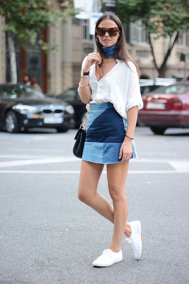 25 Ways To Wear Denim Skirts 2017 | FashionTasty.com