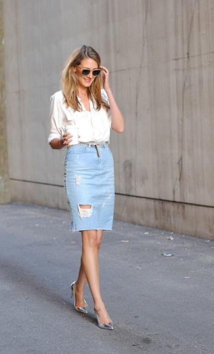 4abee2256 25 Ways To Wear Denim Skirts 2019 | FashionTasty.com