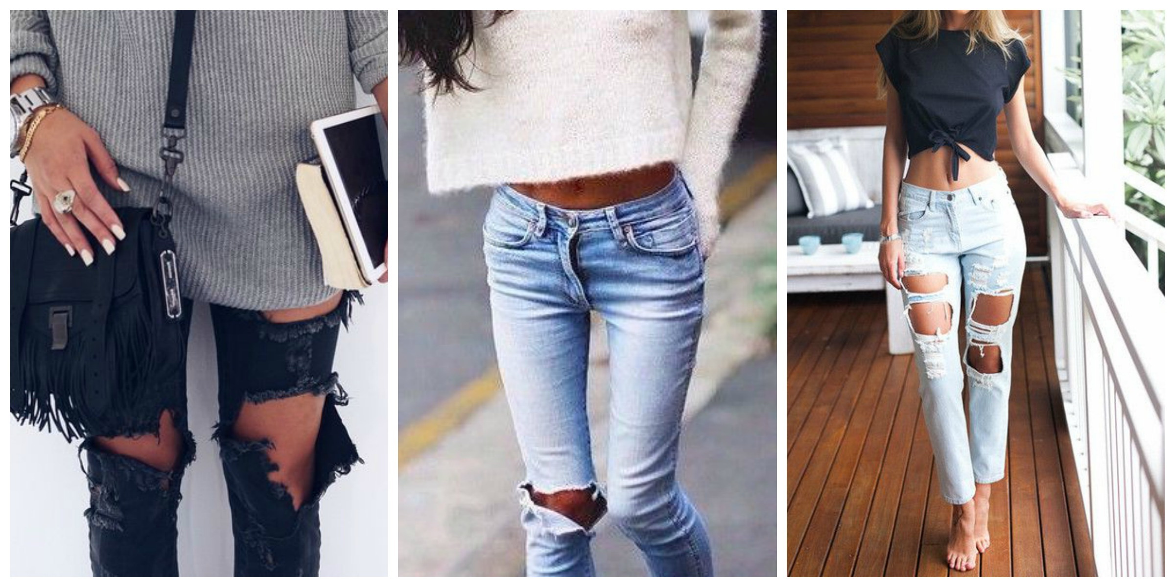 The Best Distressed Jeans Styles 2017 | FashionTasty.com