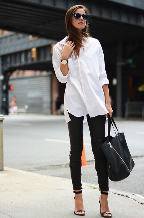 25 Ways To Wear White Shirts (Outfit Ideas) 2017 | FashionTasty.com