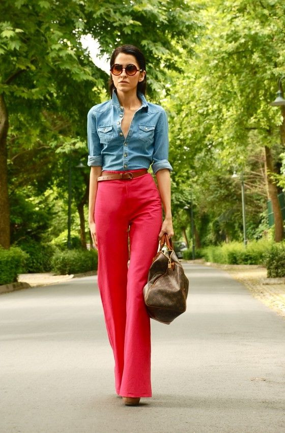 Ladies Red Pants Outfits 2018