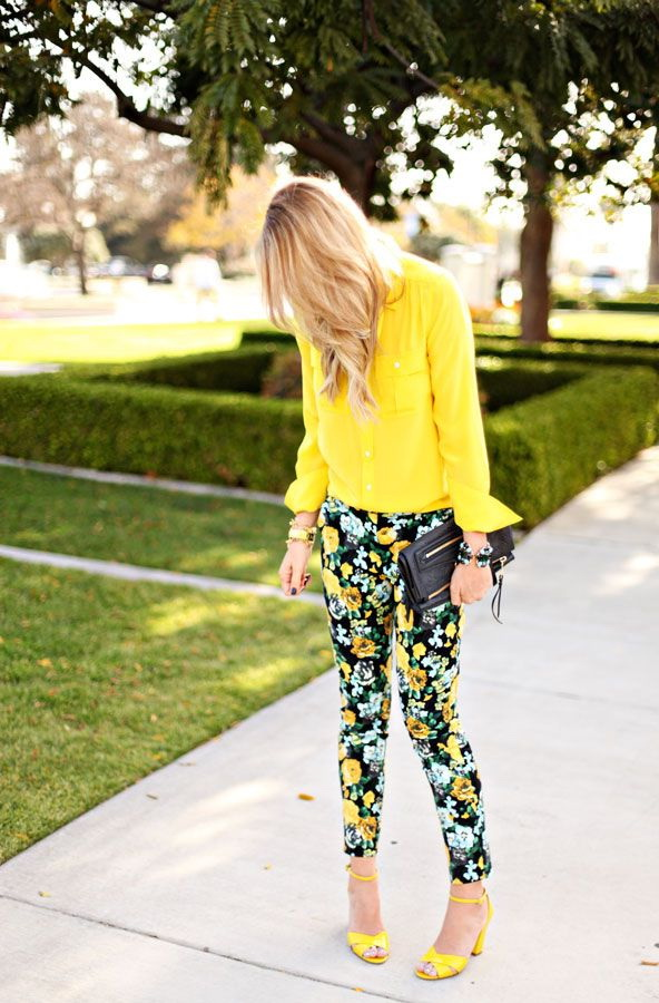 Outfit Ideas With Floral Pants 2021