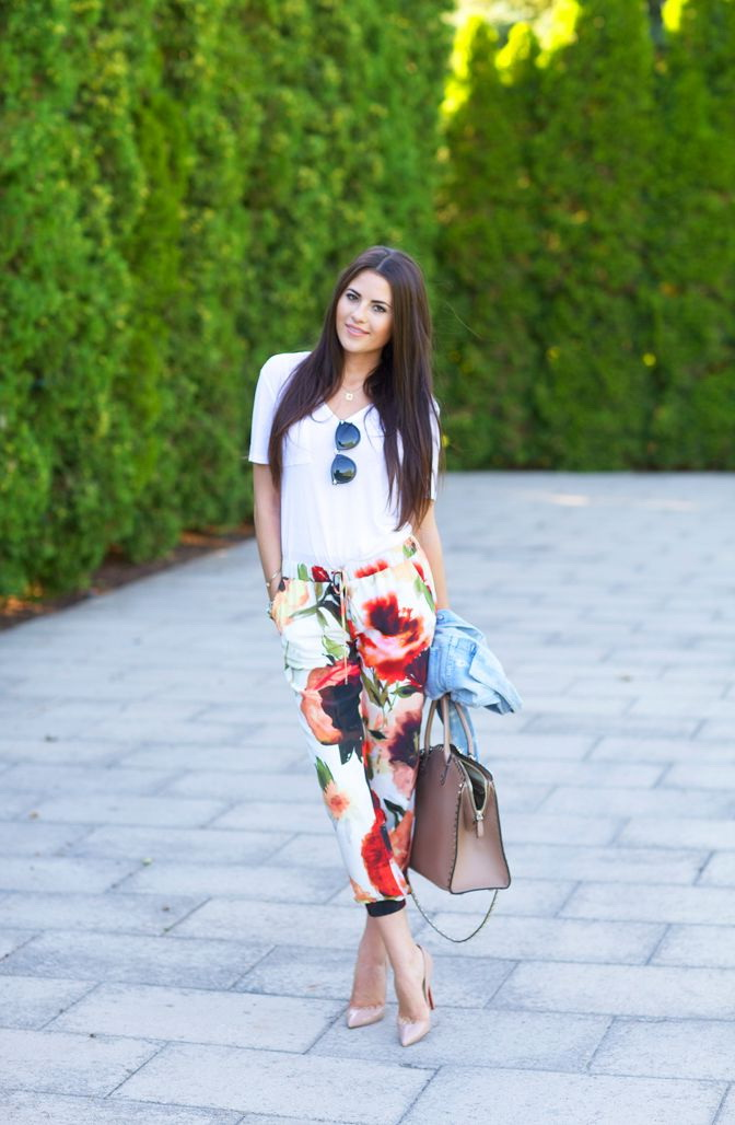 Outfit Ideas With Floral Pants 2019