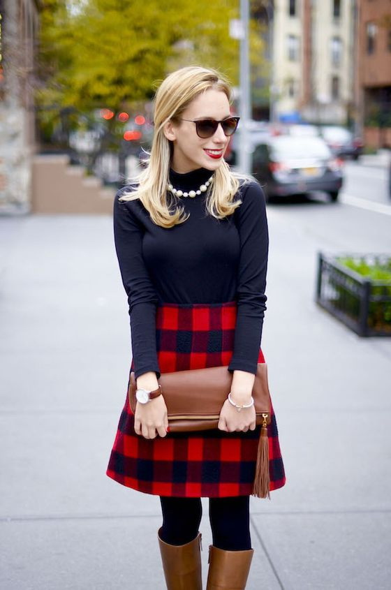 8da6d39ba06 25 Ways To Style Plaid Or Checkered Skirts 2019