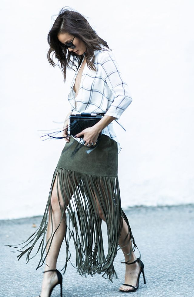 Outfit Ideas With Fringe Skirts 2021