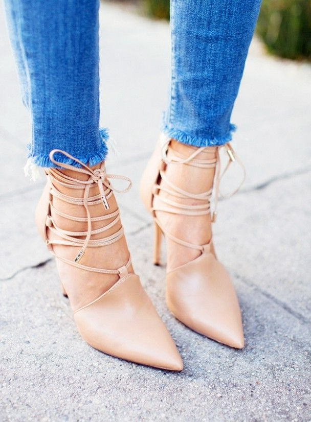 Lace Up Heels - How to Wear And Outfit Ideas 2019