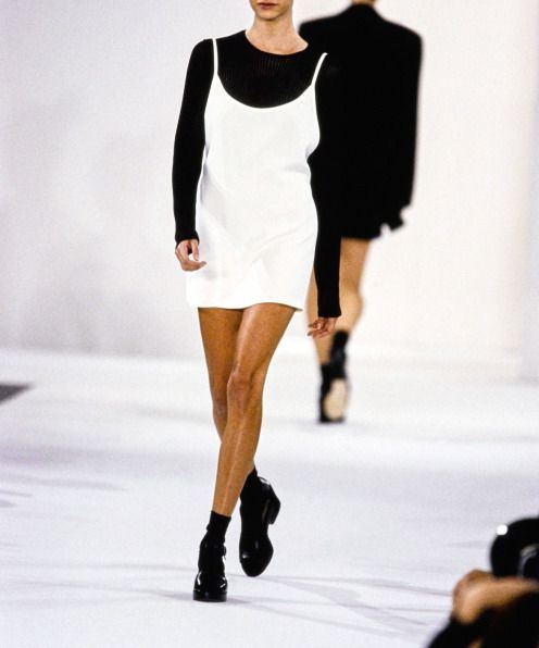 Addicted To 1990's Trends: Slip Dresses Over T-shirts 2021