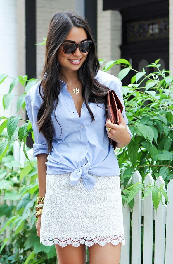 Chambray Shirts Outfit Ideas 2021