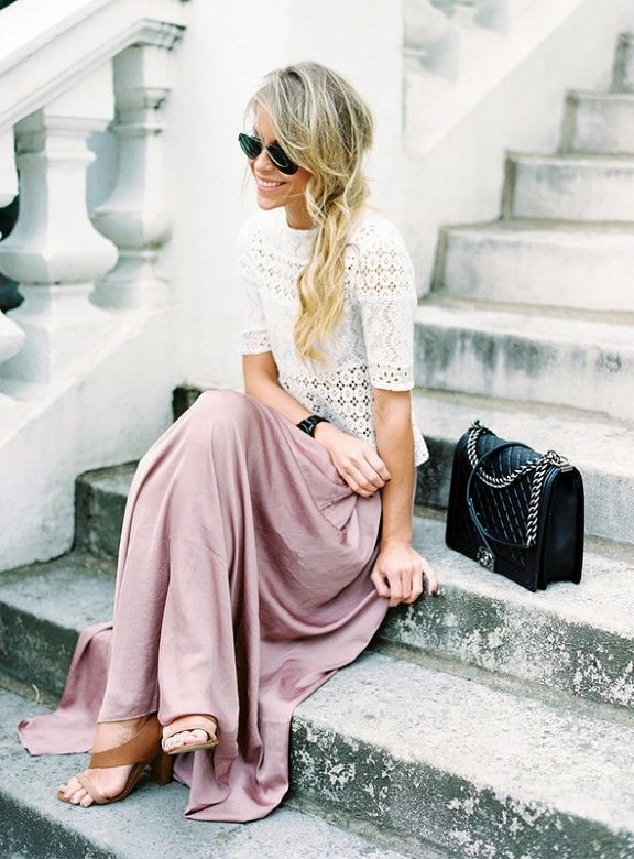 Long And Maxi Skirts Outfit Ideas 2020