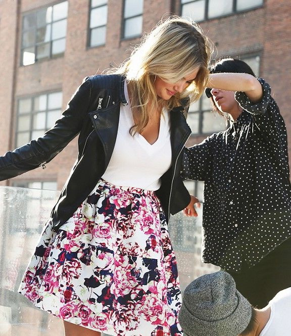 15 Ways To Style Leather Jacket With Skirts 2020