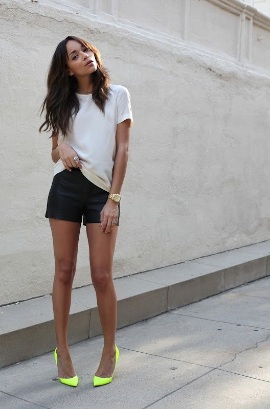 How To Style Leather Shorts 2020