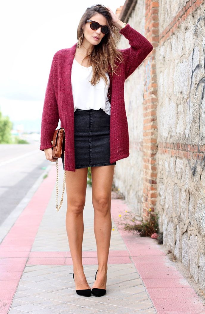20 Ways To Wear Black Mini Skirts 2019