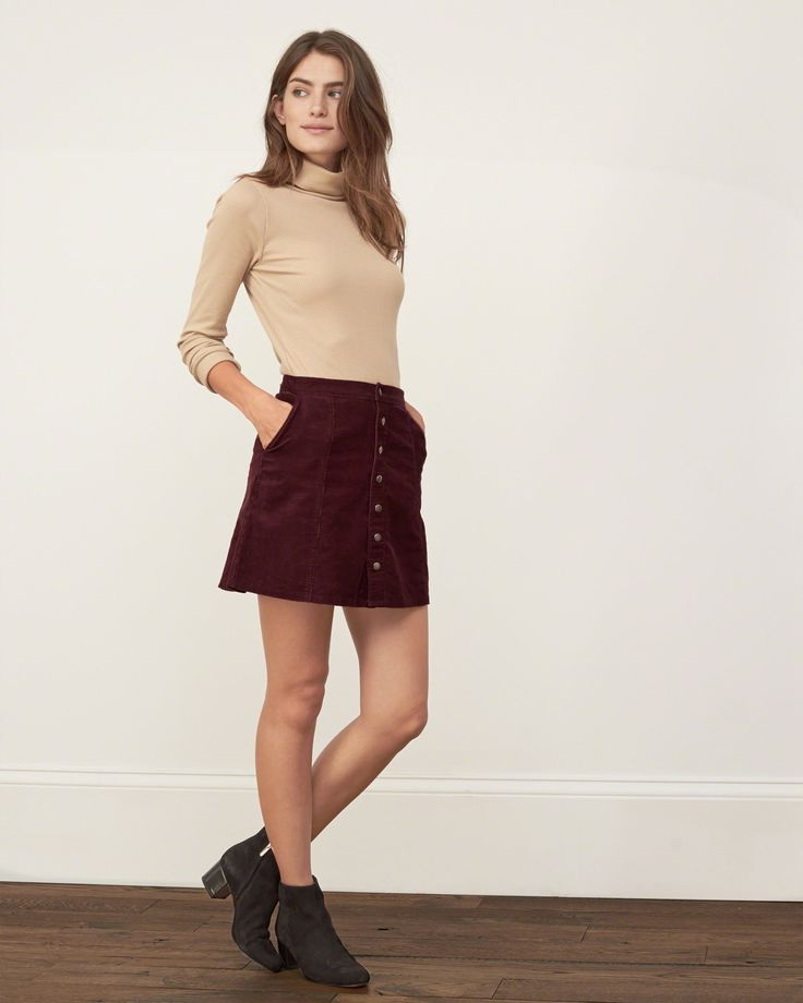 Suede Skirts Designs And Outfit Inspiration 2017 | FashionTasty.com