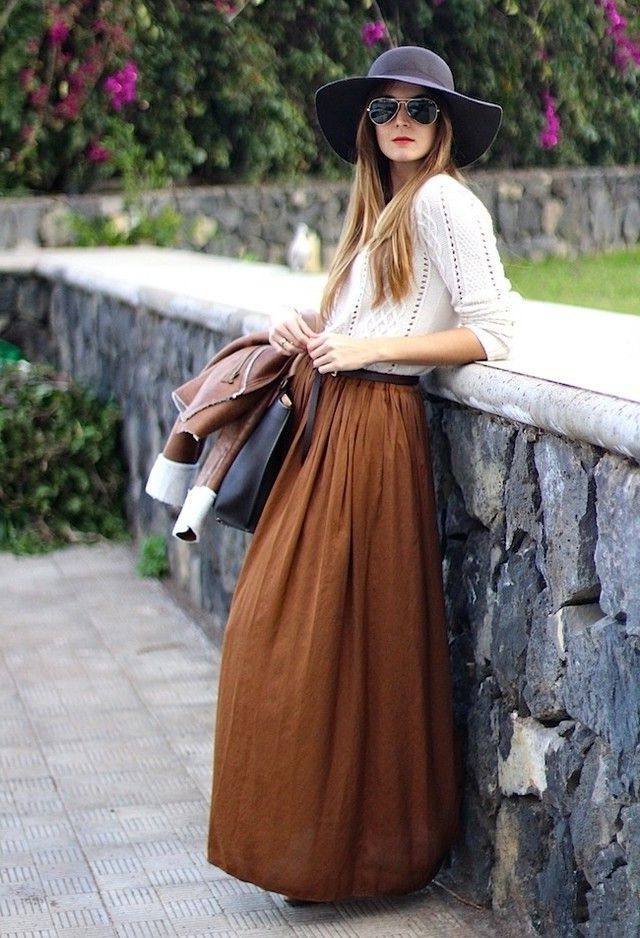 Long And Maxi Skirts Outfit Ideas 2019