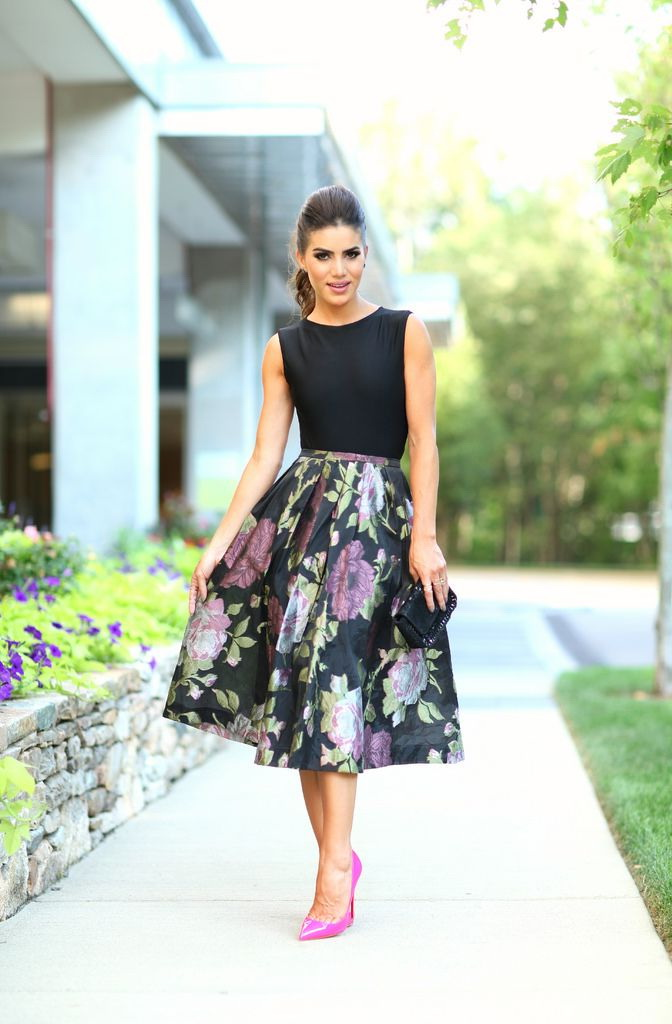 Outfit Ideas With Printed Midi Skirts 2018 | FashionTasty.com