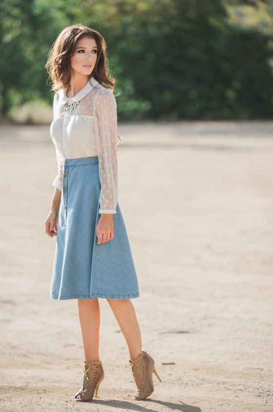 Pastel Skirts And How To Style Them 2018