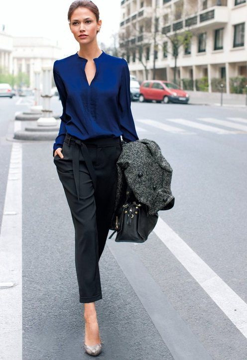 Office Wear Ideas And Work Pants For Women 2017 | FashionTasty.com