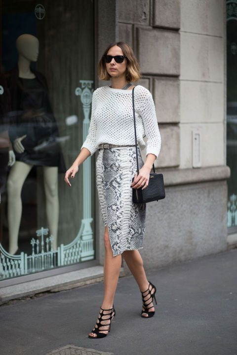 Pencil Skirt Outfits For Fancy Parties 2019