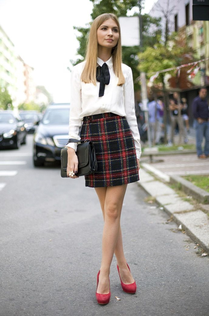 25 Ways To Style Plaid Or Checkered Skirts 2019