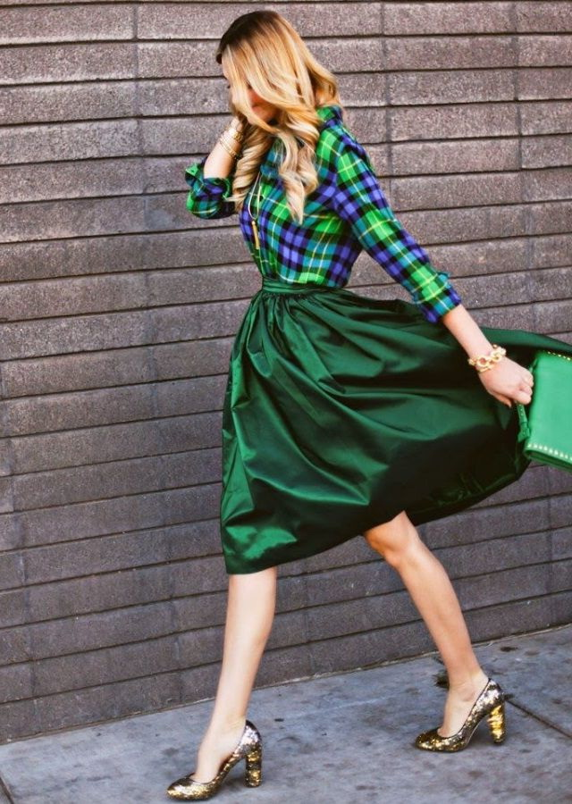 Green Skirt Outfits 2020