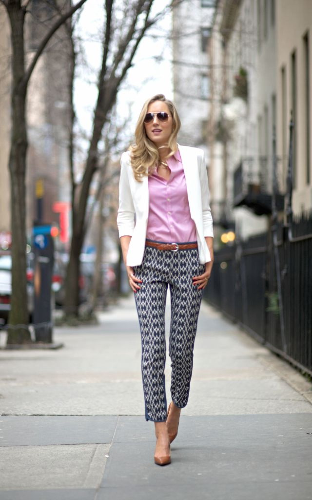 25 Ways To Wear Printed Pants 2018