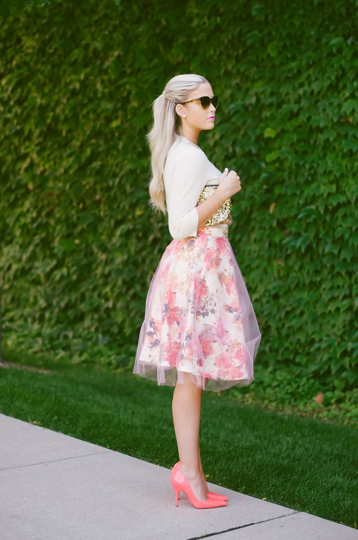 Best Floral Print Skirt Outfits 2018 Fashiontasty