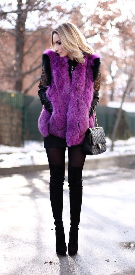 Women's Fur Vests To Invest This Fall 2017