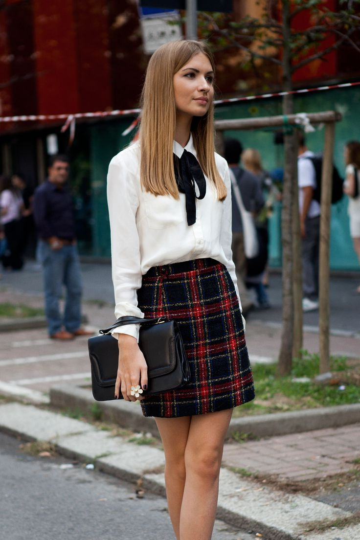 25 Ways To Style Plaid Or Checkered Skirts 2021