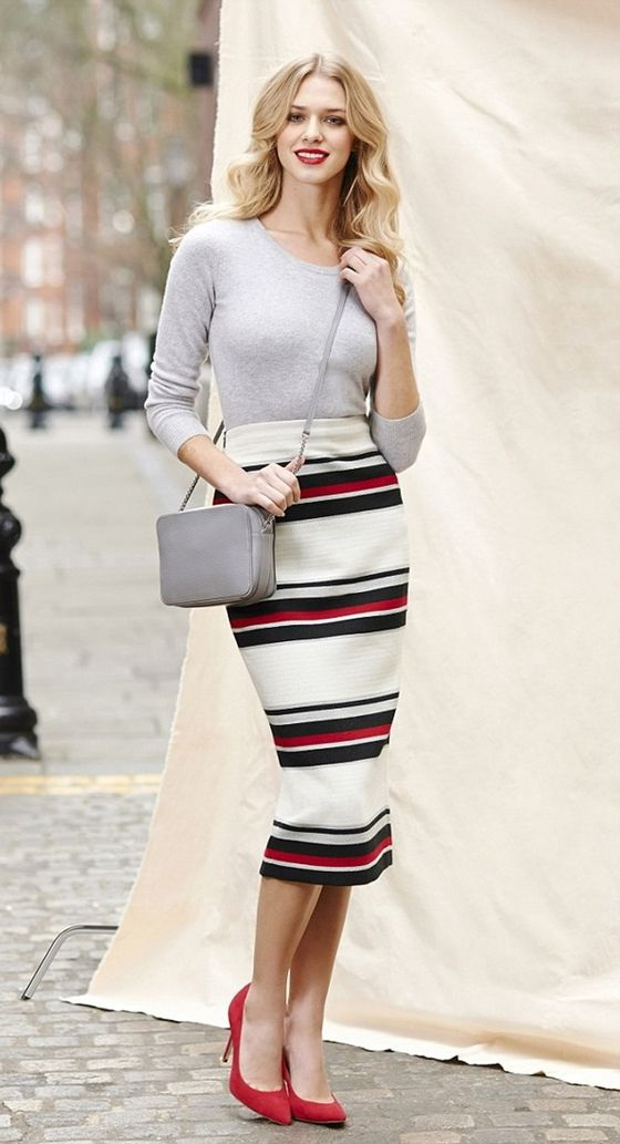 How To Style Tea Length Pencil Skirts 2019