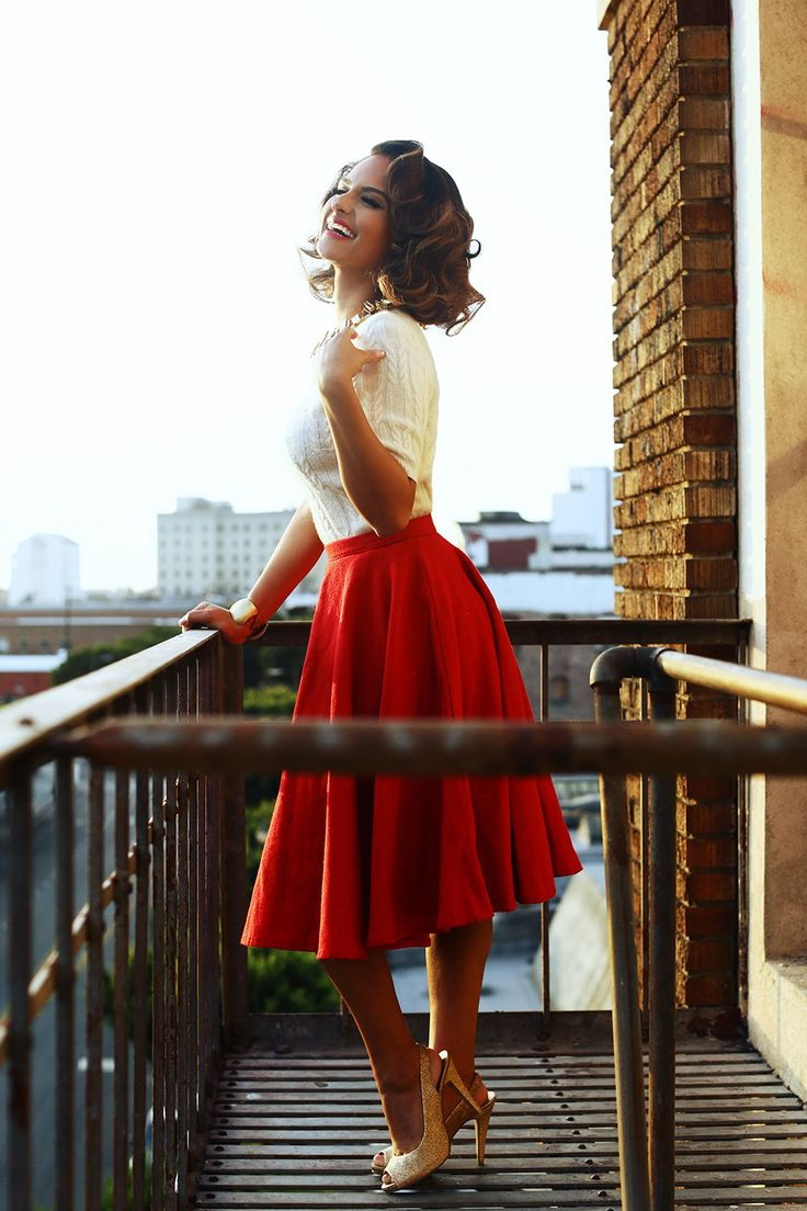 Red Skirts Designs And How To Wear Them 2021