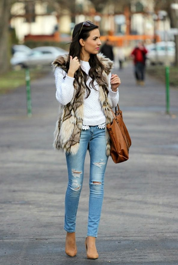 wonderful ripped jeans outfit for women