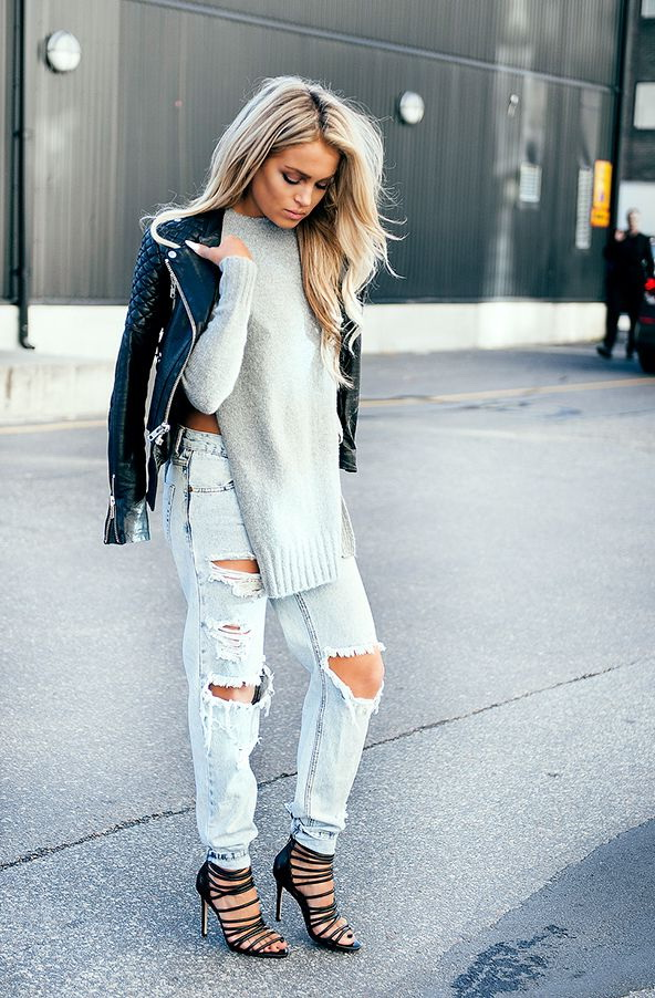 Ripped Jeans Outfit Ideas 2019
