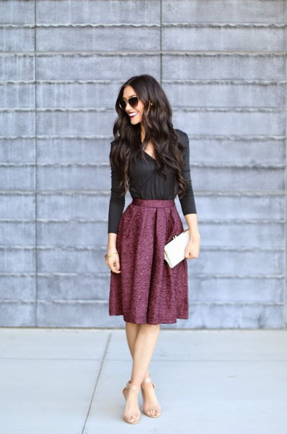Office Skirts Combinations And Work Outfit Ideas 2017
