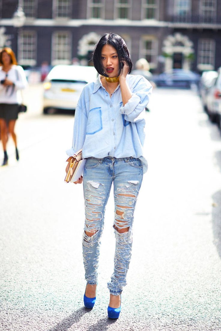 15 Ways To Wear Distressed Jeans 2020