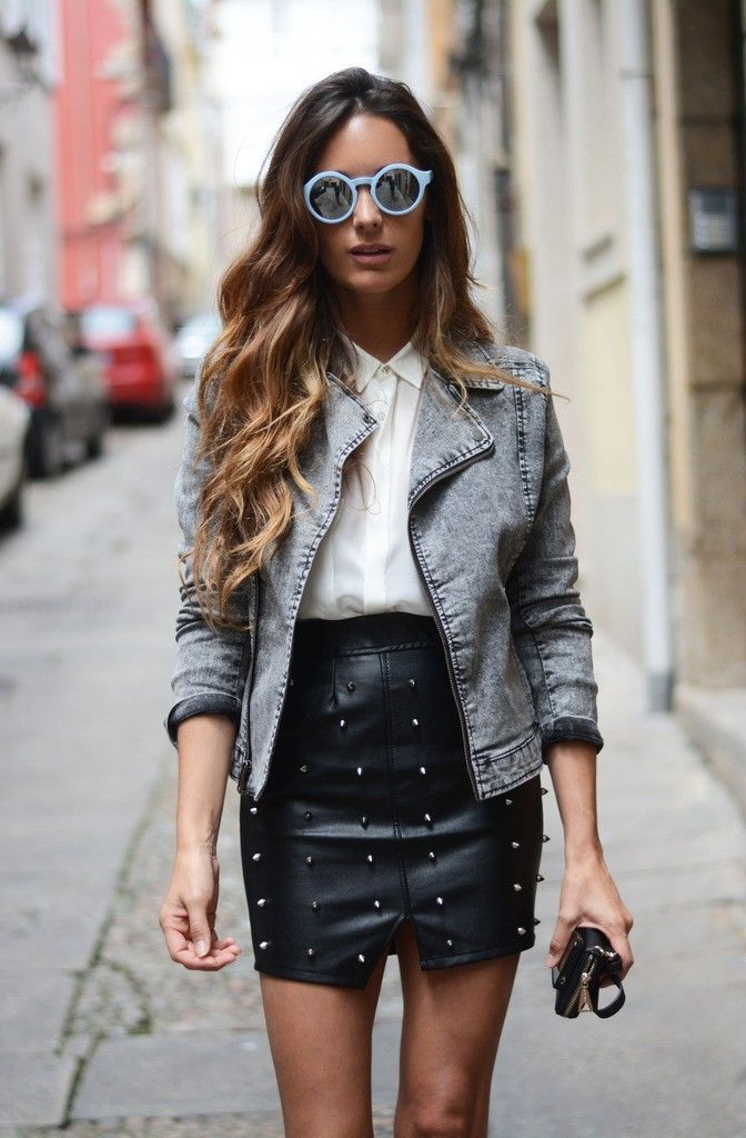 How To Wear Black Leather Skirts 2020