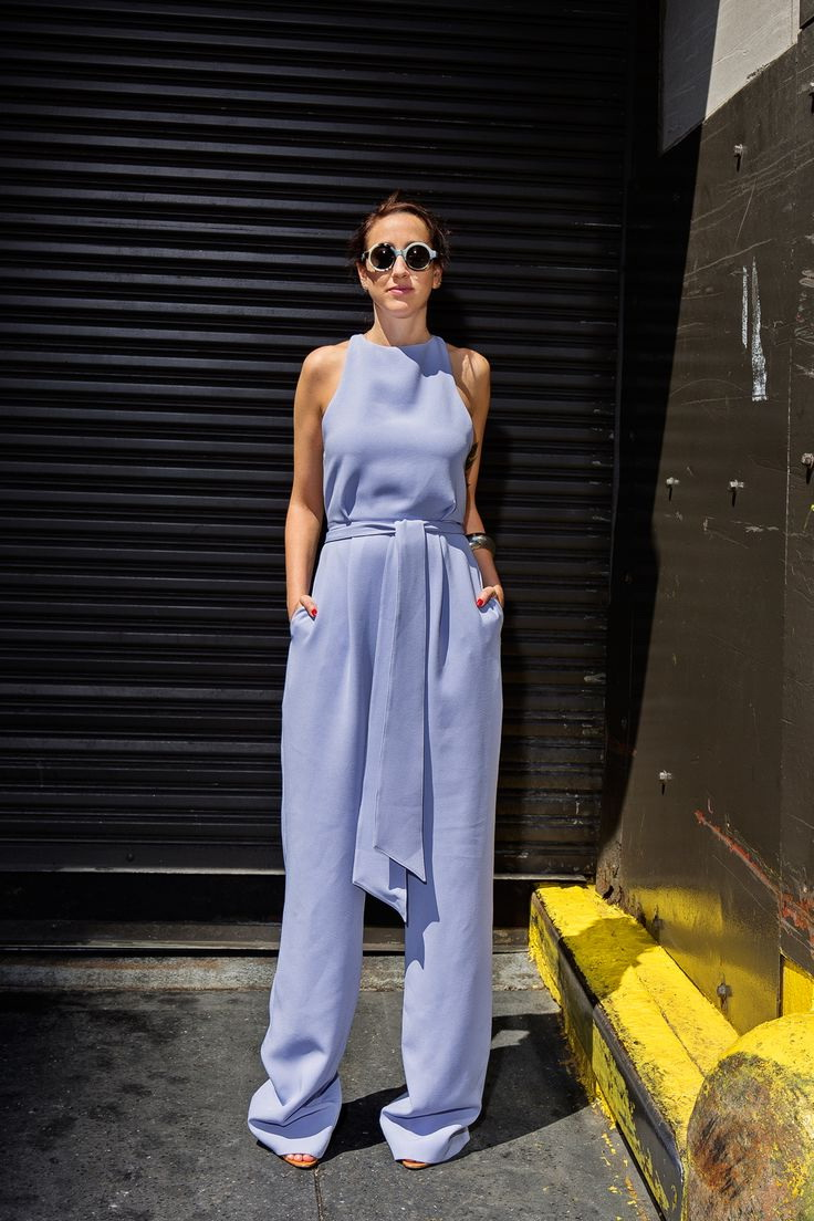 10 Ways To Style Blue Jumpsuits 2019