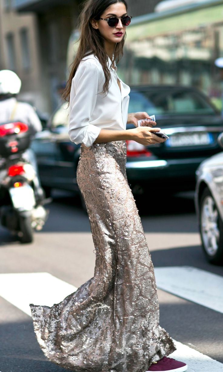 What To Wear With Sequin Skirts 2020