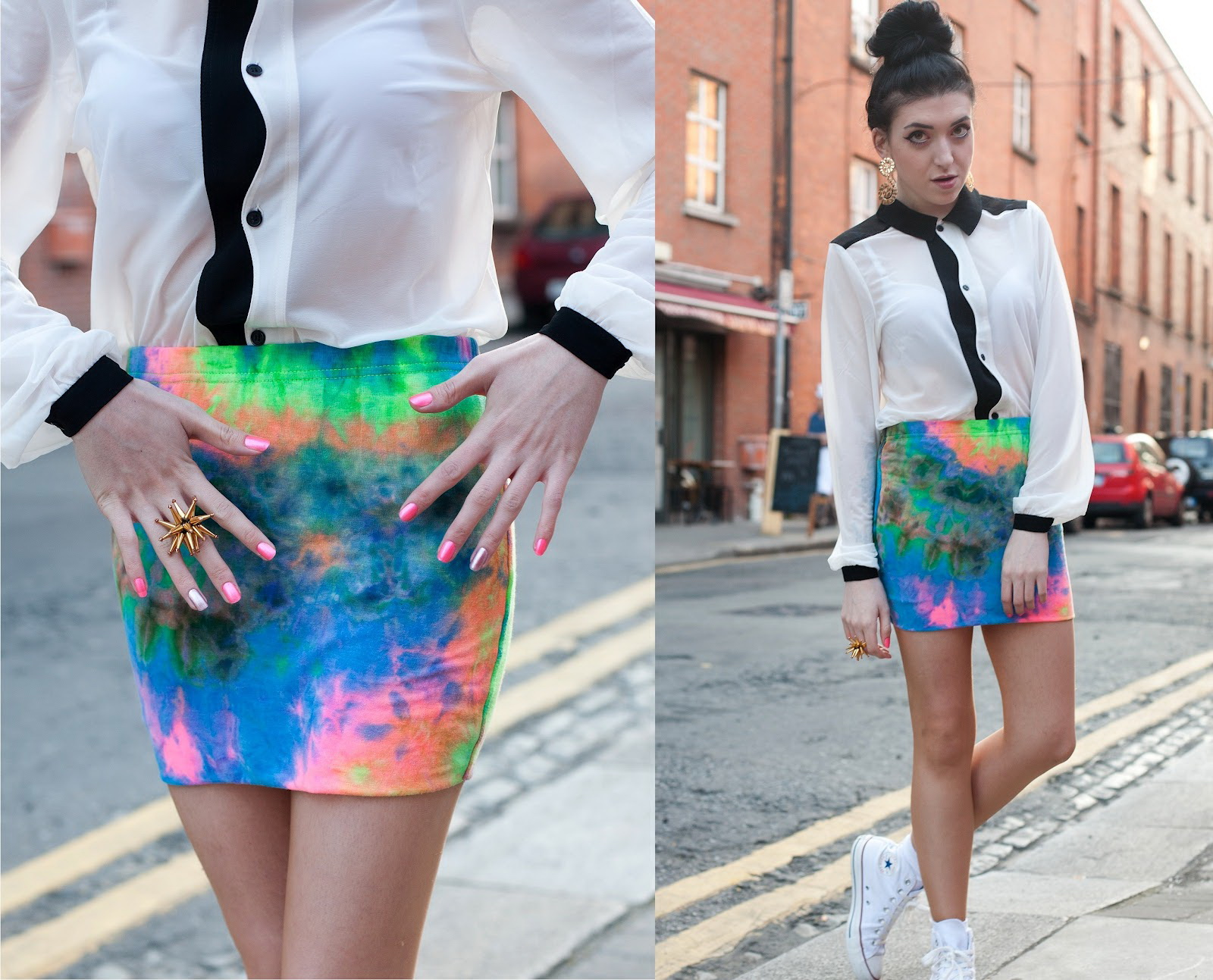 Printed Mini Skirt Outfit Ideas 2021