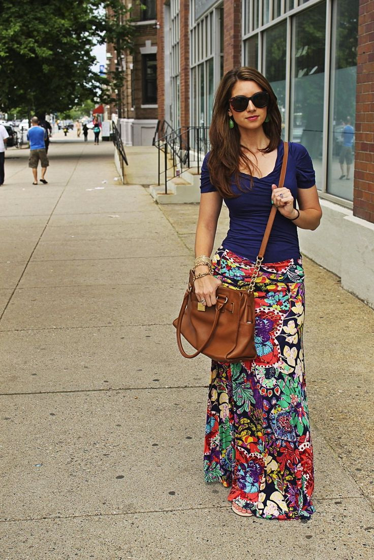 How To Wear Printed Maxi Skirts 2017 | FashionTasty.com