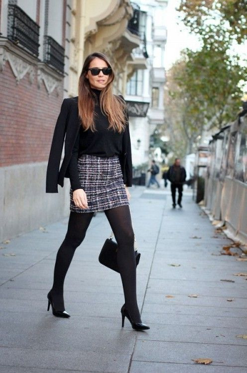 30 Ways To Wear A Mini Skirt In Winter 2017