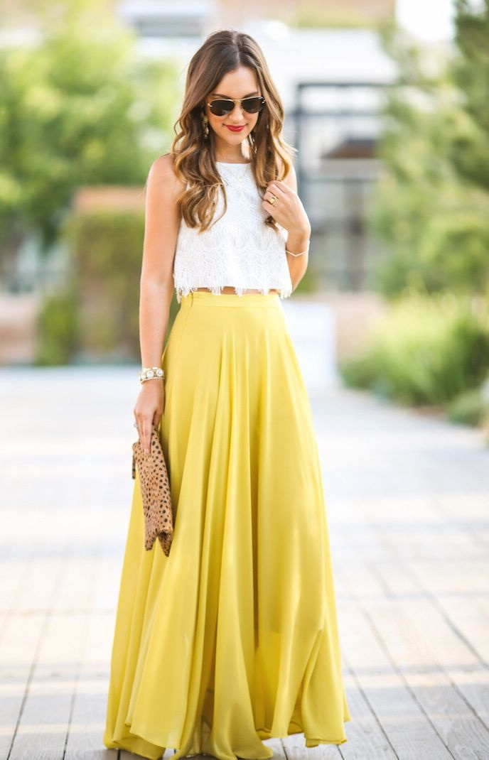 da88a9e75bd2b Long And Maxi Skirts Outfit Ideas 2019