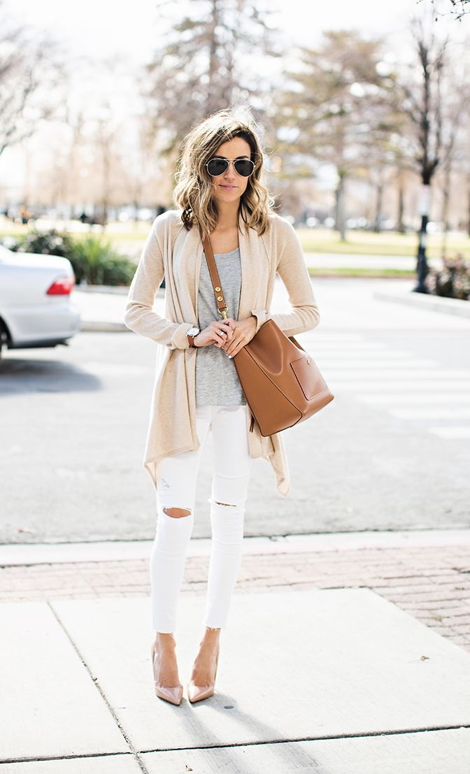 How To Wear White Jeans (Outfit Ideas) 2019