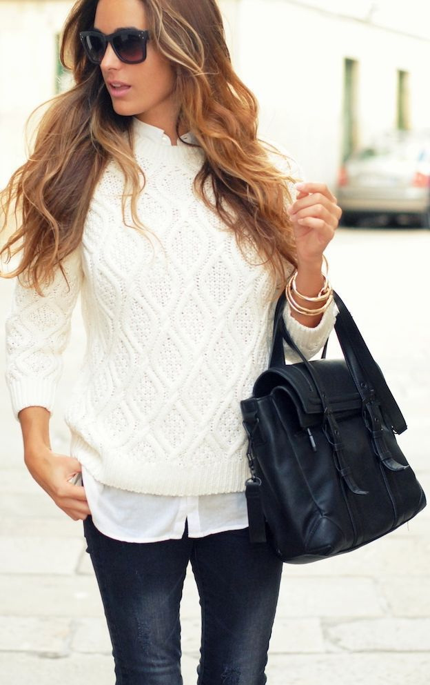 10 Ways To Wear Your White Sweater 2021