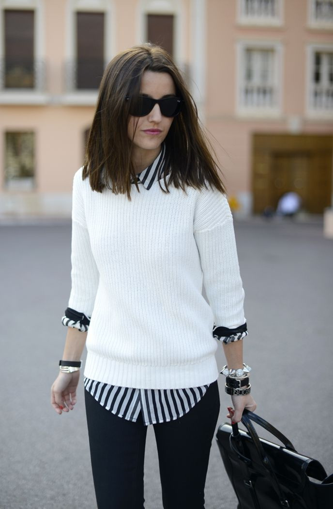 922d63f825d5 10 Ways To Wear Your White Sweater 2019