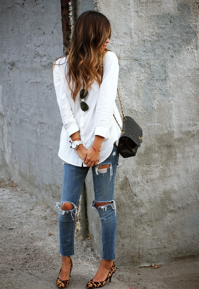 20 Ways To Wear Ripped Knee Jeans 2019
