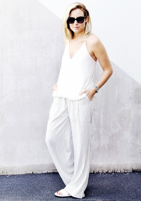 What To Wear With Striped Pants Outfit Ideas 2019